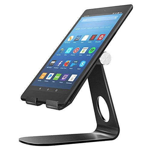 Price comparison product image MoKo Stand Fit Kindle Fire Tablet / E-Reader,  210° Holder Fit New Kindle 10th Gen 2019,  Fire HD 8 2018 / 2017,  HD 10 2017, Fire 7 2017 / Fire 7 9th 2019,  Kindle Paperwhite 2018 Oasis 2017 Voyage - Black