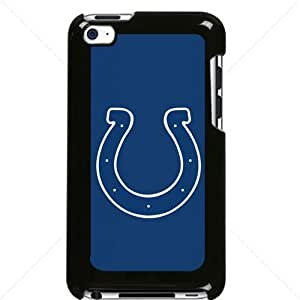 NFL American football Indianapolis Colts Fans Apple iPod Touch iTouch 4th Generation Hard Plastic Black or White cases (Black)