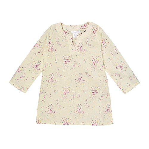 [KC Signatures 100% Cotton Petite Floral Women's Top Tunic Blouse with 3/4 Sleeves (Large)] (Paisley Silk Jersey)