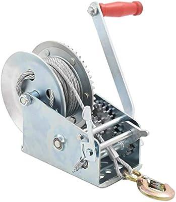 Tidyard 10m Handseilwinde Seilwinde Hand Winde Bootswinde Anh/änger Handwinde 1360 kg 3000 lbs Mit 2 Wege 2 Geschwindigkeiten Trailer Seilwinde Seilwinden