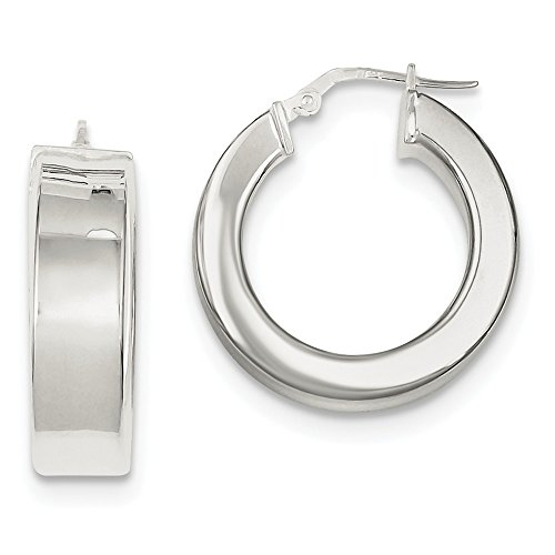 Sterling Silver Polished Huggie-Style Earrings (Approximate Measurements 23mm x 23mm)