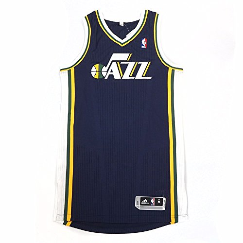 adidas Utah Jazz NBA Navy Blue Official Authentic On-Court Revolution 30 Away Road Jersey for Men (MT) ()