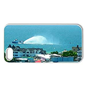 Mackinac Island Michigan - Case Cover for iPhone 5 and 5S (Lakes Series, Watercolor style, White)