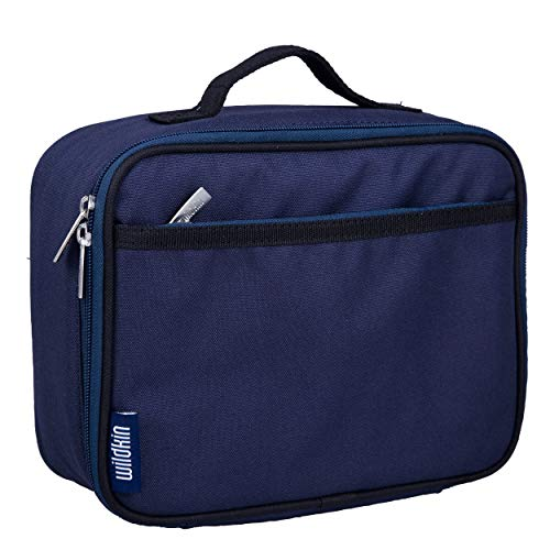 Lunch Box, Wildkin Lunch Box, Insulated, Moisture Resistant, and Easy to Clean with Helpful Extras for Quick and Simple Organization, Ages 3+, Perfect for Kids or On-The-Go Parents - Whale Blue (Jaws Lunch Box)