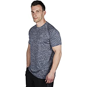 Under Armour Tech Short Sleeve Running T-Shirt - SS15 - Large - Grey