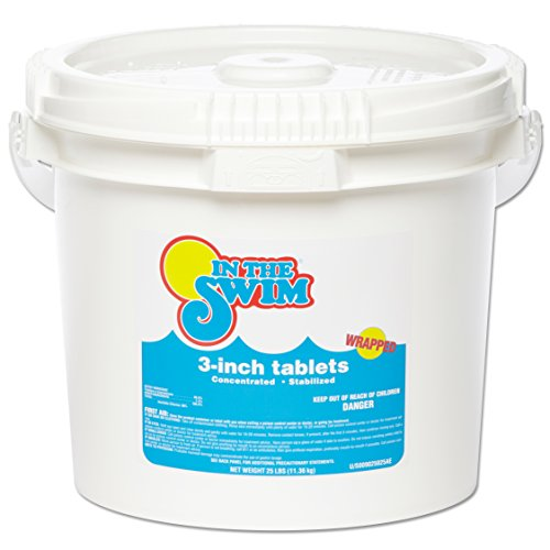 In The Swim 3 Inch Swimming Pool Chlorine Tablets 25 Pounds