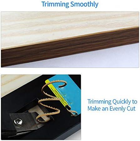 GMKD Manueller Kantenschneider, Minihand Holz Kantenbearbeitungswerkzeug für Zimmerei, bewegliche Aluminiumlegierung Handkanten End Cutter für PVC ABS Holzfurnier
