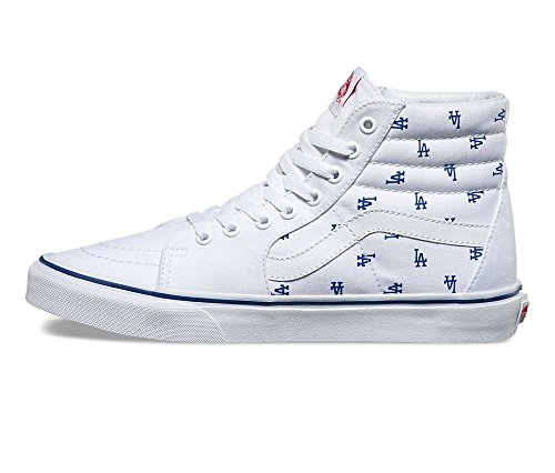 Vans Herren Sk8-Hi (MLB) Los Angeles Dodgers Skateboard Schuhe Weiß / Royal Blue