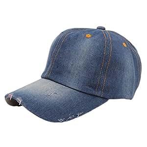 Malloom Moda Hombres Mujeres Jeans Denim Deportes Casual Sombrero de Vaquera Gorra de béisbol del Sombrero de Sun (B): Amazon.es: Hogar