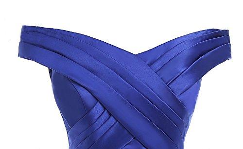 Off Gowns Yinyyinhs Grey Women's Prom Ruffles Formal Shoulder Mermaid Evening Dress 44Fq6t