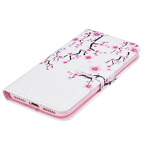 PU Cuero Carcasa para Apple 7 Funda Carcasa Resistente Protectora Leather Wallet Case Cover Shell Sunroyal ® Iphone 7 4.7