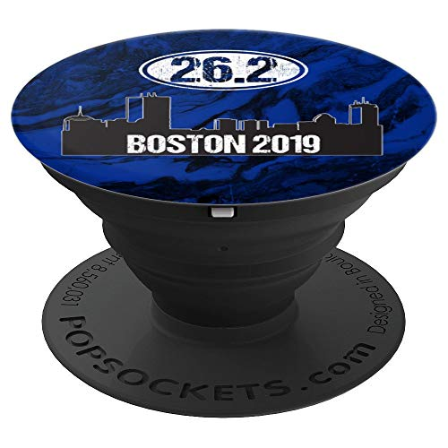 26.2 Marathon Phone Grip Boston Runner Gift 2019 Blue Marble - PopSockets Grip and Stand for Phones and Tablets