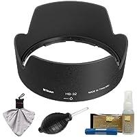 Nikon HB-32 Bayonet Lens Hood for Nikon 18-135mm, 18-105mm, 18-140mm VR DX Zoom-Nikkor + Cleaning Kit (with D3100, D320, D5100, D5200, D7000 & D7100 Digital SLR Camera)