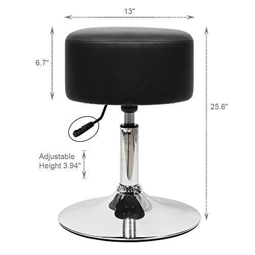 Furmax 2 Pack Hydraulic Adjustable Stool for Massage Salon Coffee Table Round Stool (Black)