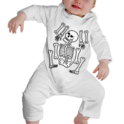 Mydufish Bodysuits Infant Baby Girls Boys Long Sleeve Bodysuit, Cute Halloween Skull Skeleton Cotton Romper Outfit -