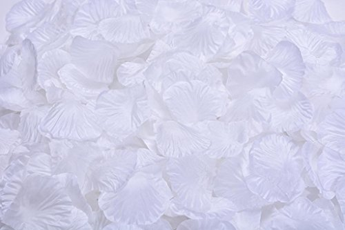 La Tartelette Silk Rose Petals Wedding Flower Decoration (8000 Pcs, Pure (Pure White Flowers)