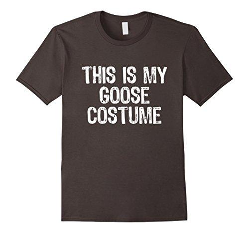 Mens This Is My Goose Costume Halloween T-Shirt Small Asphalt -