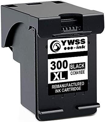 YWSS Remanufacturado Cartucho de Tinta para HP 300 XL HP 300 Alto Rendimiento Cartucho de Tinta (1 Negro) CC641EE para HP ...