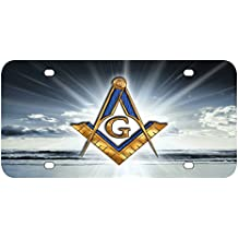 L277 FREEMASON License Plate Front Custom Novelty Tag Vanity Frame Holder Wrap Wraps