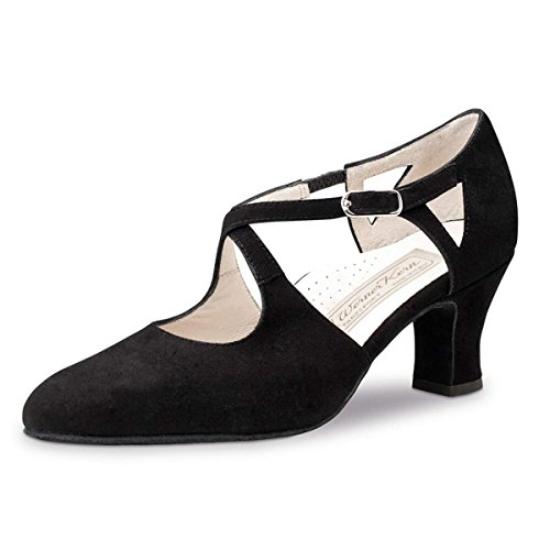 Ante Werner Kern Gala mujer Zapatos cm negro baile 6 para de qWP06