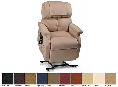 Golden Technologies MaxiComfort Dual Motor Comforter Lift Chair Infinite Position Recliner PR-505M26 Medium Extra Wide 500 Lb MaxiComforter - Brisa Coffee Bean Ultra Polyurethane ()