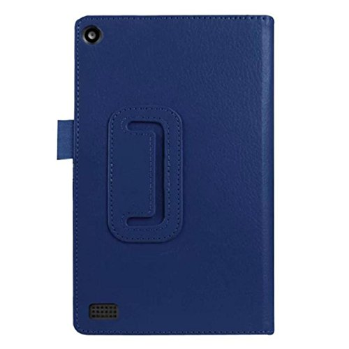 Price comparison product image Mchoice Leather Case Stand Cover for Amazon Kindle Fire HD 7 2015 Tablet (Dark Blue)