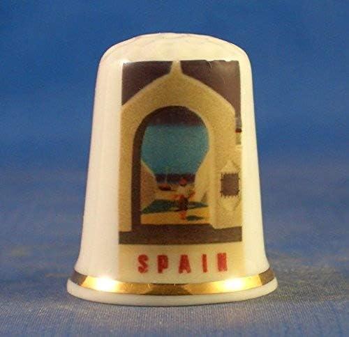 Dedal coleccionable de porcelana de Birchcroft, serie de carteles de viajes, España: Amazon.es: Hogar