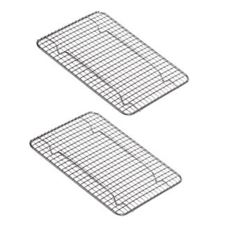 UPI Heavy-Duty 1/4 Size Cooling Rack, Cooling Racks, Wire Pan Grade, Commercial Grade, Oven-Safe, Chrome, 8 x 10