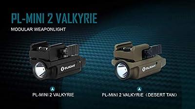 EdisonBright Olight PLMINI 2 (PL Mini 2) 600 Lumen Magnetic USB Rechargeable Modular Adjustable Mount Pistol Light Charging Cable Carry case