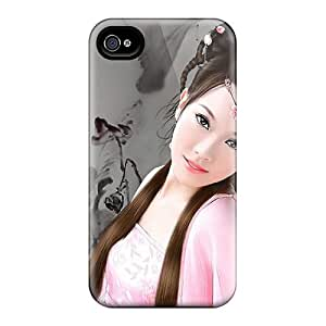 Defender Case For Iphone 4/4s, Oriental Beauty Pattern