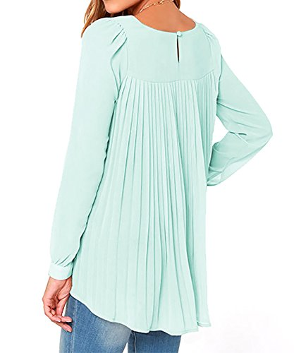 Tribangke - Camiseta de manga larga - para mujer Verde