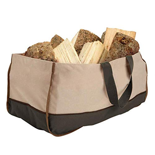 Bestmemories Storage Bag Oxford Cloth Firewood Bags Multifunctional Charcoal Carrying Bag Logging Bags Totes Portable Outdoor Carries Log Travel Camping Package