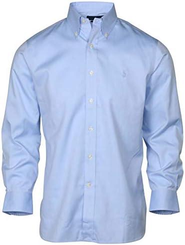 Polo Ralph Lauren Men No-Iron Pinpoint Oxford Dress Shirt, Blue ...