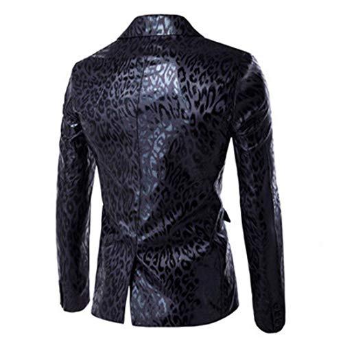 Blazer Per A Sportiva Lunghe Stile Tempo Slim Libero Uomo Fit Il Vintage Schwarz Cappotto Maniche Moderna Giacca Semplice Da YFqCpWxwzz
