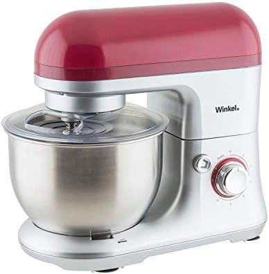 Winkel RX60 Robot de cocina multifunción, batidora amasadora, 650 W, Rojo: Amazon.es: Hogar