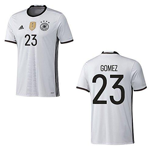 adidas DFB DEUTSCHLAND Trikot Home Herren EURO 2016 - GOMEZ 23, Größe:L