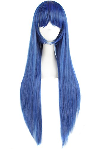 long blue wig - 3