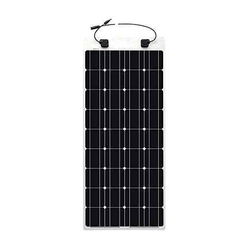 Renogy 100 Watt 12 Volt Extremely Flexible Monocrystalline Solar Panel - Ultra Lightweight, Ultra Thin, Up to 248 Degree Arc, for RV, Boats, Roofs, Uneven Surfaces by Renogy (Image #1)