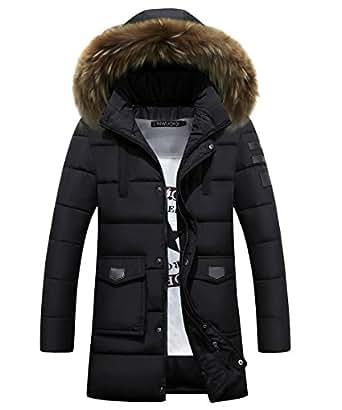 HADLIN Men's Winter Thicken Parka Coats Down Jacket Slim