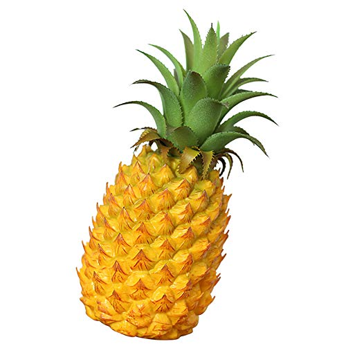 - Longpro Realistic Artificial Fruits Fake Pineapple for Display High Simulation Artificial Dummy Fruits Vegetables Studio Photo Prop DIY Decoration Accessories Artificial Food Toys