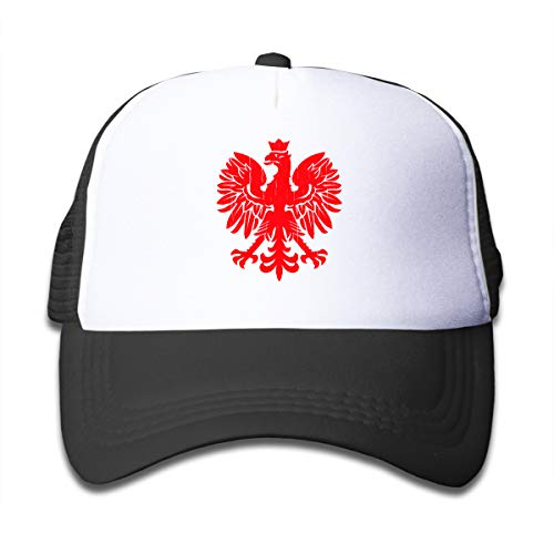 (Polish Flag Eagle - Red Kids Hip Hop Visor Cap Black)