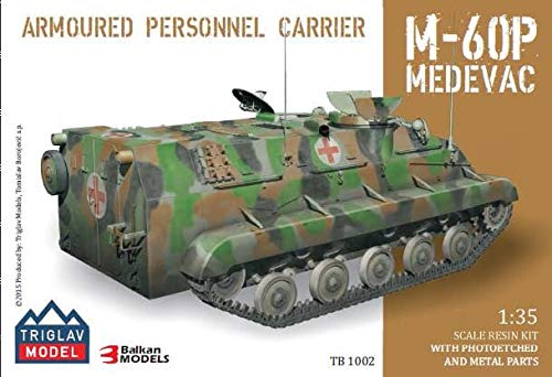 Triglav Model TB-1002 Armoured Personnel Carrier M-60P Medevac 1/35 Scale, Resin Model w/Photoetched and Metal Parts