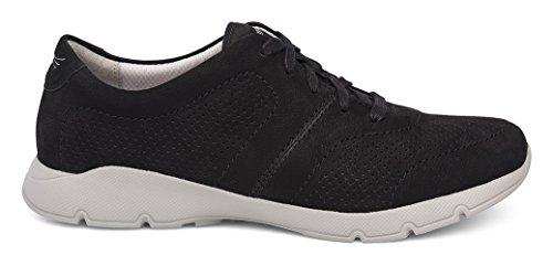 Dansko Dames Alissa Sneaker Zwart Gefreesde Nubuck