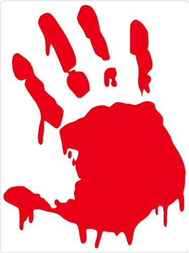 Right Hand Vinyl - Sassy Stickers Zombie Right Hand Vinyl Decal Window Sticker (Color: Blood Red)
