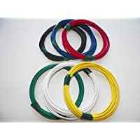 Automotive Copper Wire, TXL, 20 GA, AWG, GAUGE Truck, Motorcycle, RV, General Purpose. Order by 3pm EST Shipped Same Day (8 Colors 25 Each) (8 COLORS BY 25 EACH)