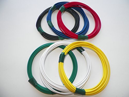 Automotive Copper Wire, GXL, 12 GA, AWG, GAUGE Truck, Motorcycle, RV, General Purpose. Order by 3pm EST Shipped Same Day (6 Colors 25' Each) (6 COLORS 10' EACH) by 4RCUSTOMS (Image #1)