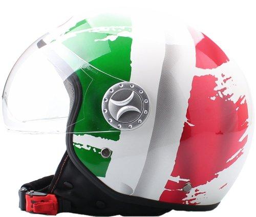 Amazon.es: BHR 49841 Demi-Jet Casco, Bandera Italia, Talla XL, 61 cm - descontinuado por el fabricante