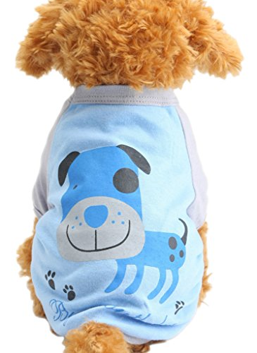 Alroman Dog Shirts Cats Shirts Pet Shirts Dog Clothes Dog T Shirts Puppy Clothes Dog Apparel Pet Clothes for Small Dogs in Spring Summer and Autumn(XS)