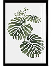 Plant Leaf Background Painting, Simple Living Room Combination Painting Nordic Restaurant Bedroom Mural Leaf Green Plant Background,E,20 * 30cm cxjff (Color : A, Size : 60 * 80cm)