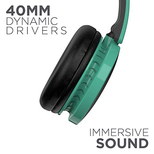 boAt Rockerz 370 Wireless Headphone with Bluetooth 5.0, Immersive Audio, Lightweight Ergonomic Design, Cosy Padded Earcups and Up to 12H Playback Bliss(Gregarious Green)